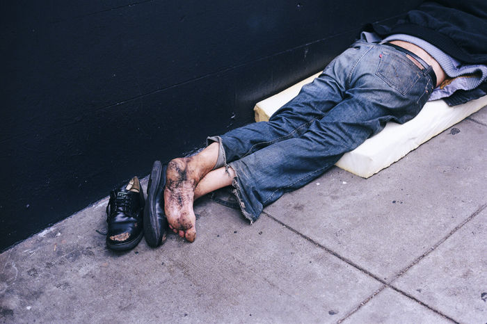 Showcase July Homeless Homelessness  Poor  Poverty Streetphotography Bay Area Sidewalk Feet Street Poorpeople Homelessman Beggar Shoes Sad Broken Ruin Help Need Dirty Sleeping Tired Jeans Legs_only Legs Resist