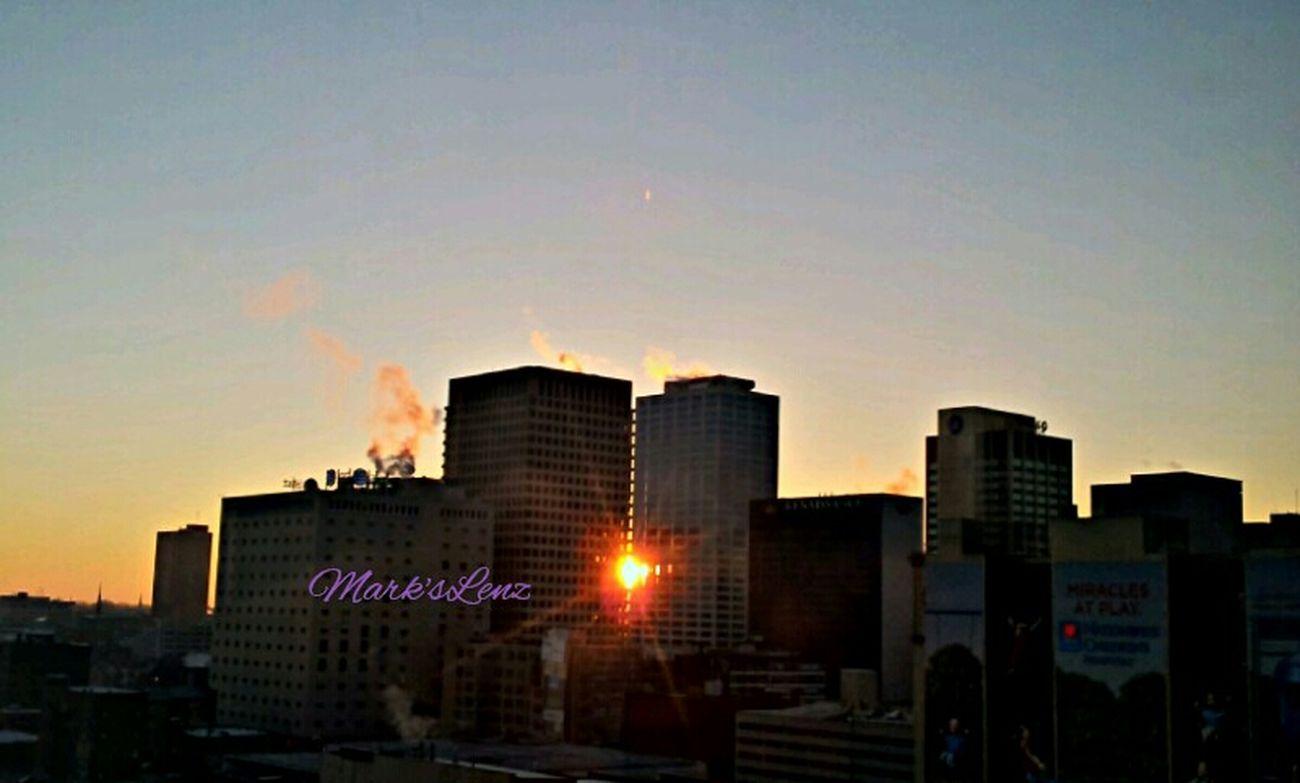 City Sunrise - 12/12/13 Nature Sunshine City Sunrise Downtown Taking Photos Fotodroiding Andrography Photography Droidography Fotodroids Phoneography Andrographer Droidographer Sun