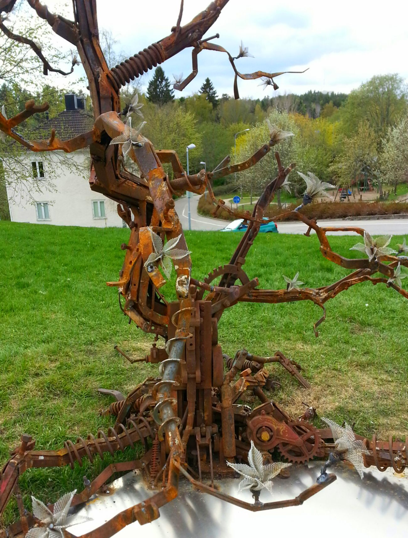 works of art, a Tree made of old Iron Scrap Architecture