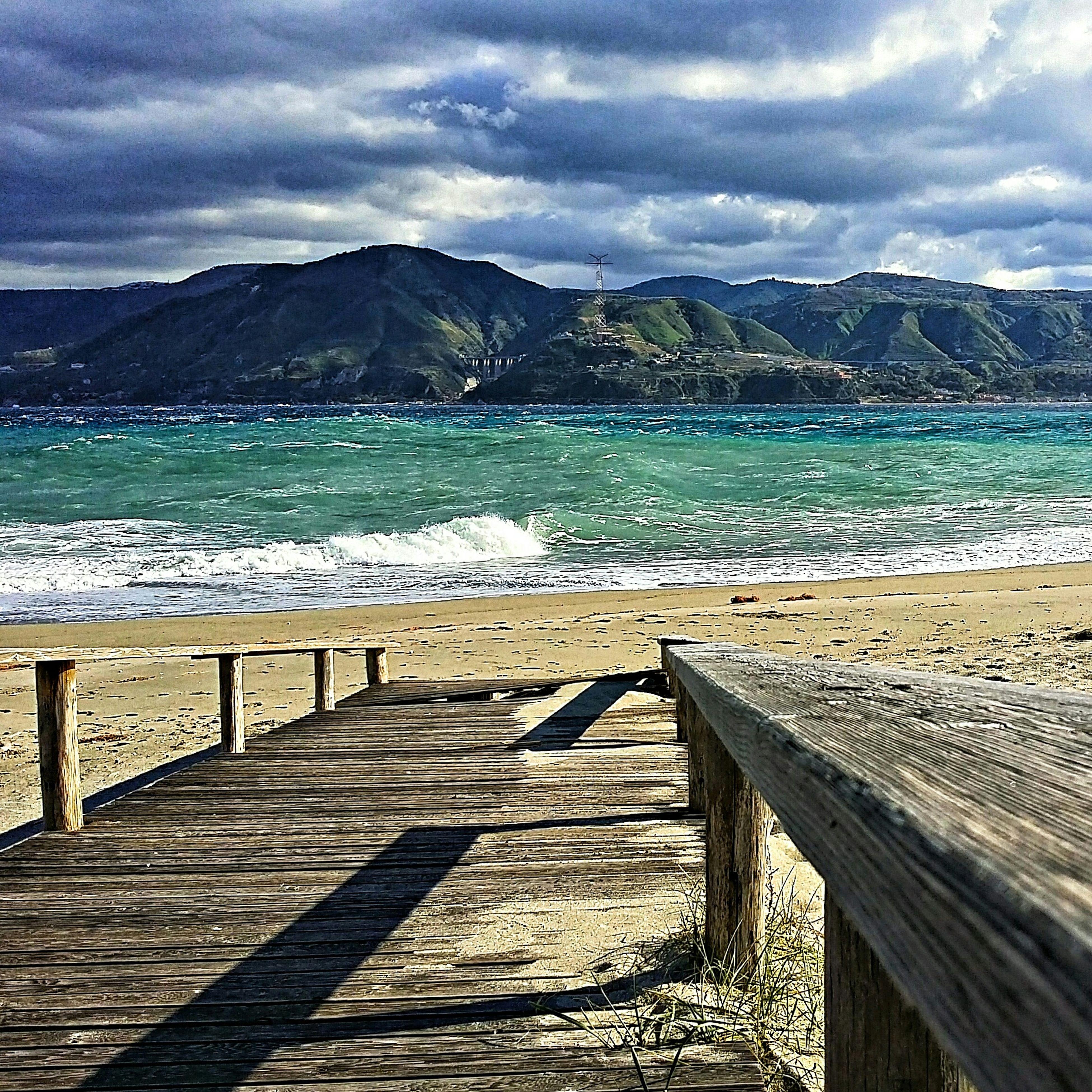 Messina Sabbiaescogli Mare Cielo Strettodimessina Nuovole Beach Sea