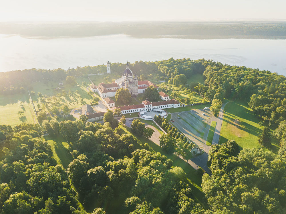 Pazaislis Monastery Lietuva Monastery Pazaislis Monastery Agriculture Architecture Beauty In Nature Building Exterior Built Structure Day Green Color Growth High Angle View Landscape Nature No People Outdoors Park Public Places Scenics Sky Tranquility Tree