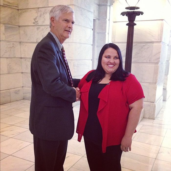 Libertarian Vice Presidential nominee JudgeJimGray was in Little Rock today to publicly endorse Issue5 . Beside him is Jessica Paxton, libertarian candidate for Congress in Arkansas district 1!