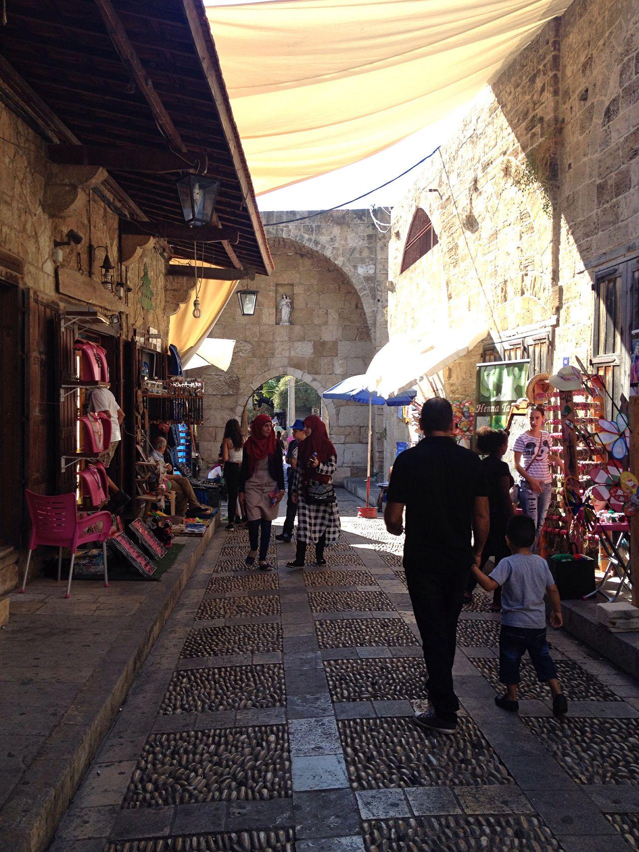 Cobblestone Old Souk Byblos Lebanon East Mediterranean