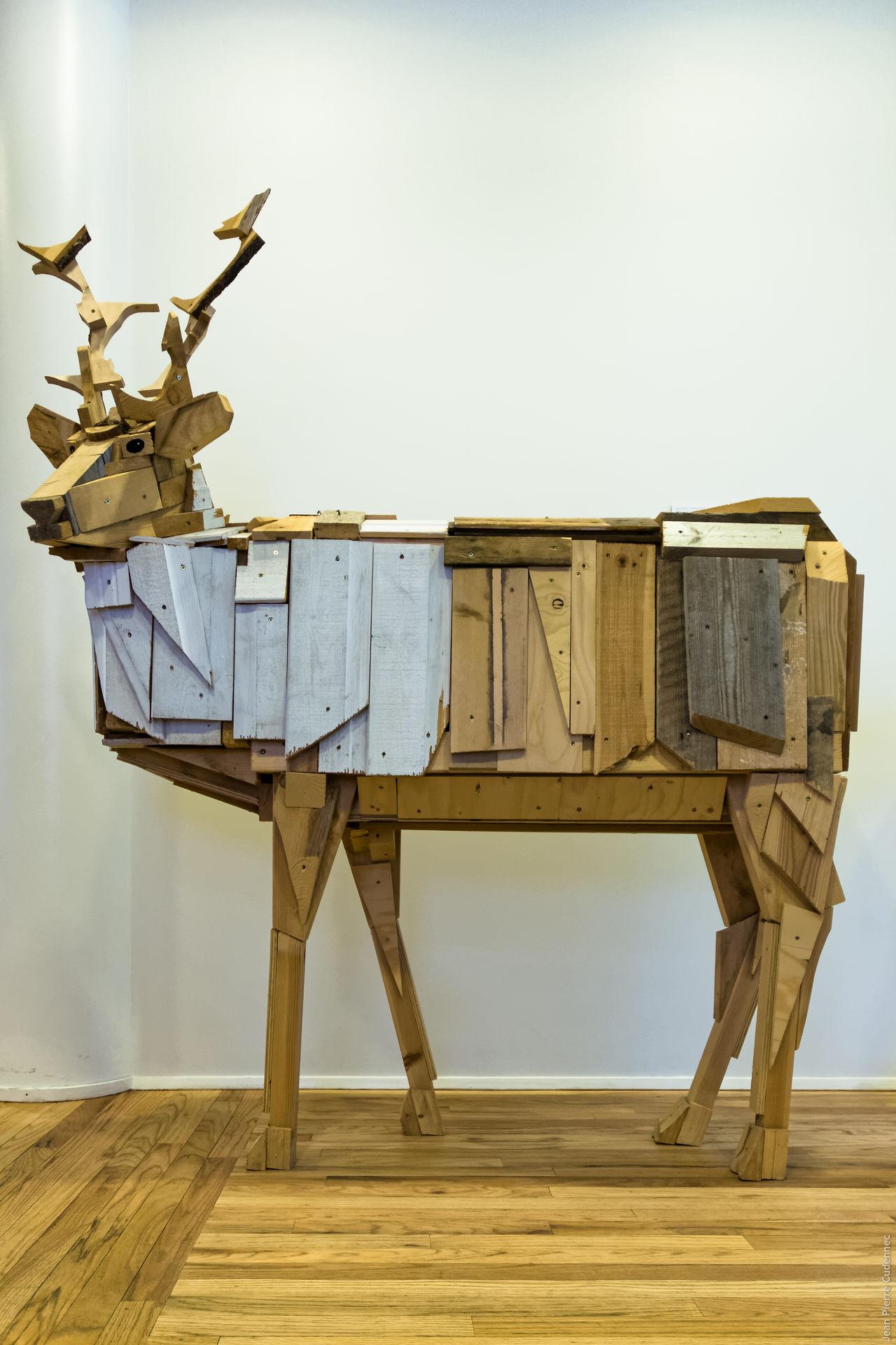 Egilsstaðir, sculpture d'Aðalheiður S. Eysteinsdóttir Art Iceland Iceland_collection Islande Sculpture Wood - Material Wooden Reindeer