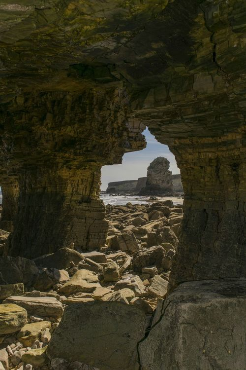 Marsden Rock Caveview Caveporn Check This Out EyeEm Gallery Eye4photography  Waves And Rocks Landscape_photography Waves, Ocean, Nature EyeEmBestPicsView frpm inside the caves at marsden rock📷😀