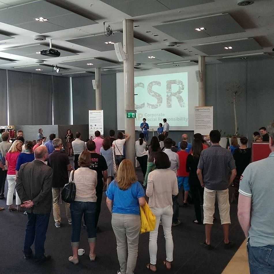 Sap Employees in Walldorf gathering to check out great CSR projects LifeatSAP HeroesArena SocialImpact