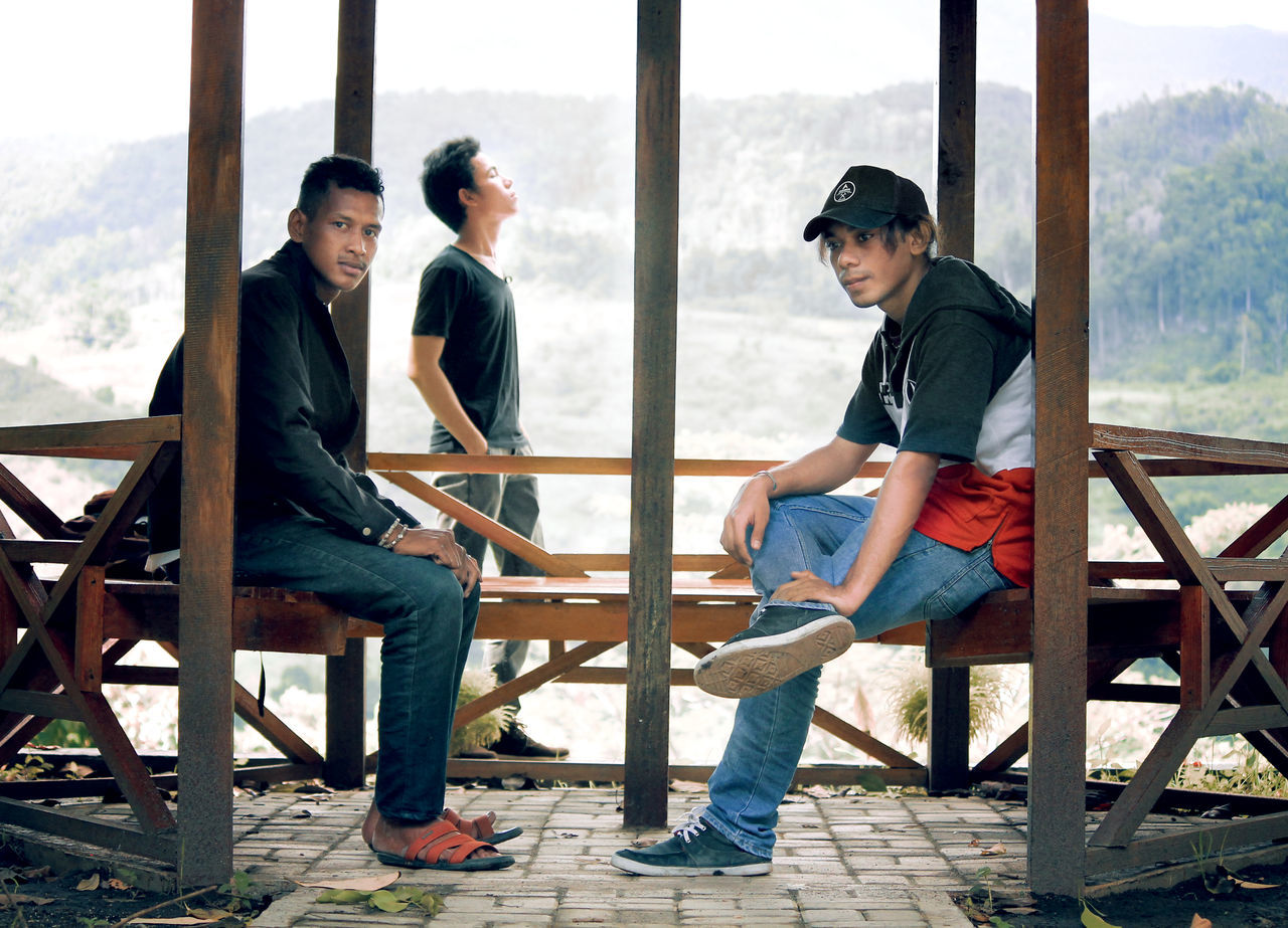 Three People Mountains Whitetheme Friendship Togetherness Handsome Young Men Fhashion Photographer Editing Community Group Of People Awesome_shots Changed King Of The Jungle Style And Fashion Sky And Clouds Blue Sky EyeEm Best Edits EyeEm Best Shots EyeEm Best Shots - Nature EyeEm Nature Lover EyeEm Masterclass Men People