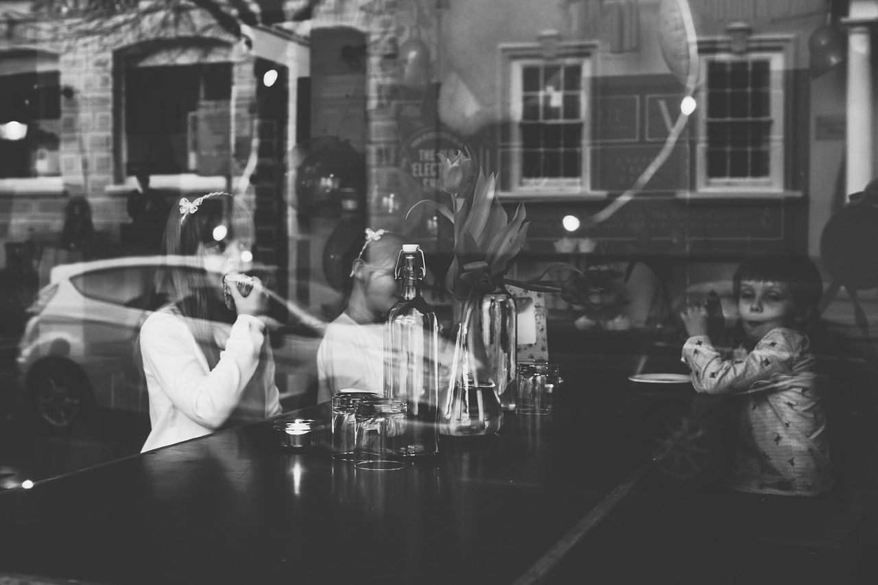 Reflection Cafe People Indoors  Lauraloophotography Togetherness Wedding Photo Of The Day Portrait Sitting Indoors  BYOPaper!