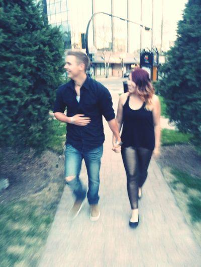 Strolling downtown with my love Boyfriend❤