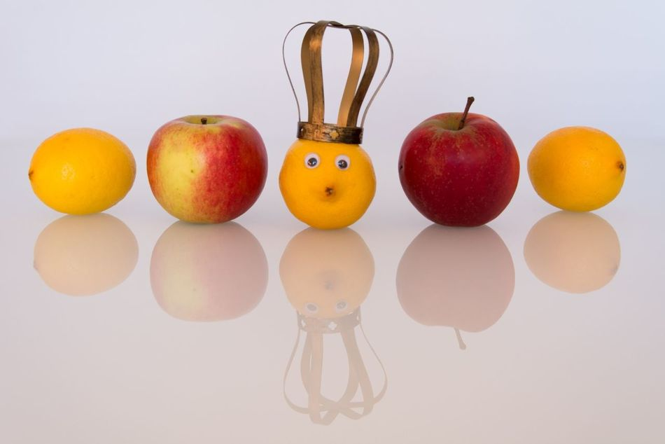 Beautiful stock photos of princess, Anthropomorphic Face, Apple, Crown, Food