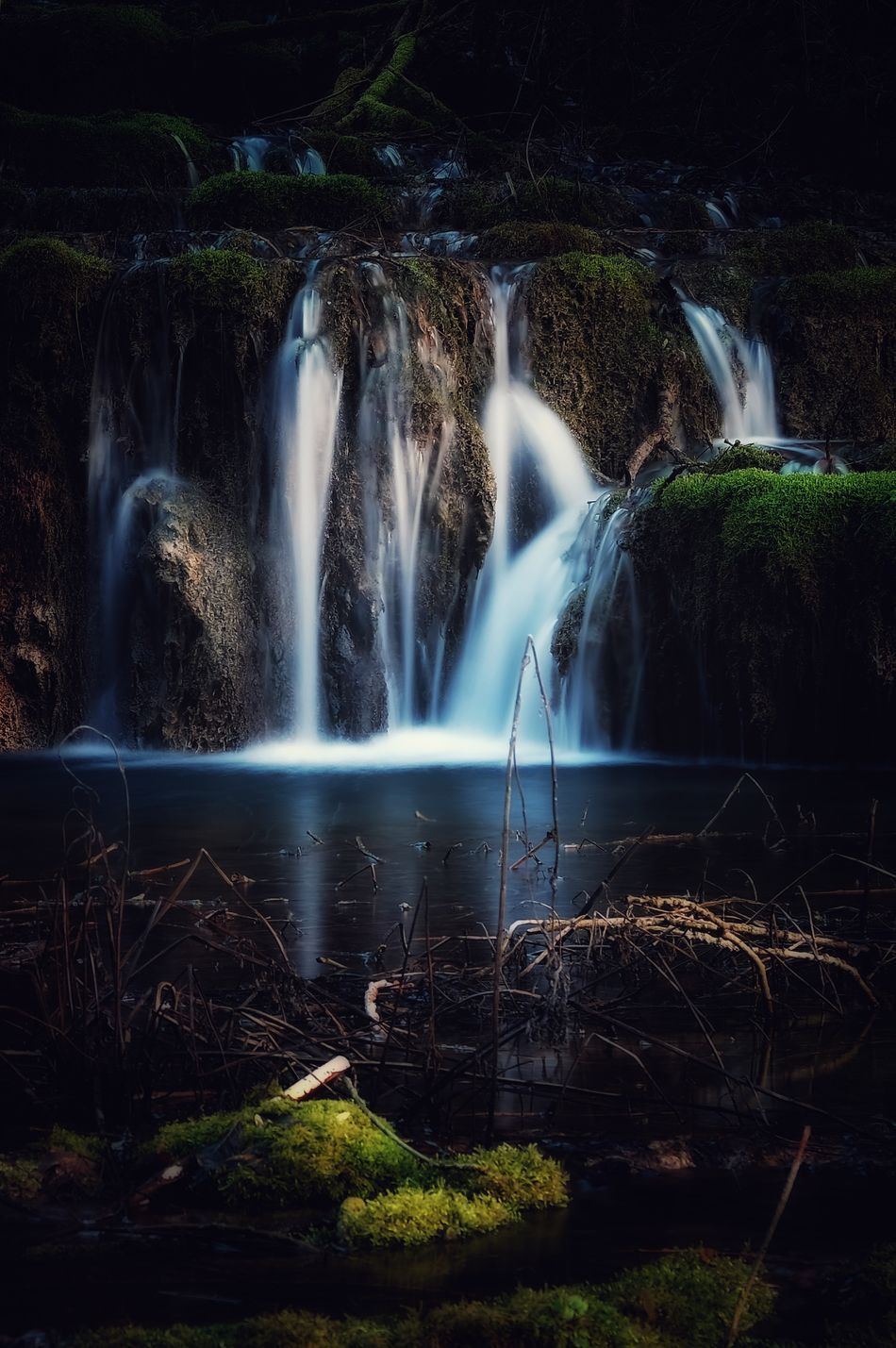 Falling water Waterfall Water Long Exposure Vacations Flowing Water Motion Beauty Beauty In Nature No People Nature Smooth Scenics Stream - Flowing Water Power In Nature Outdoors Fujifilm Edited Fuji Taking Photos