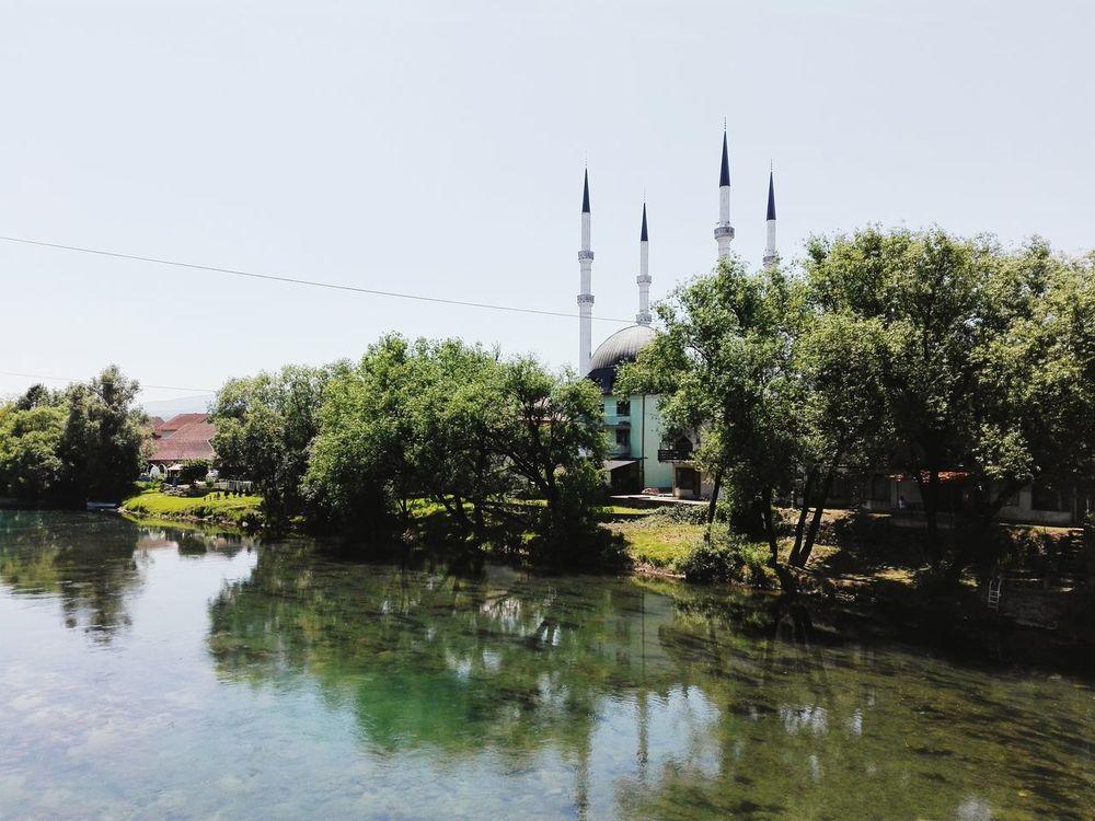 Mosque River Sana Summer Hot Weather Green