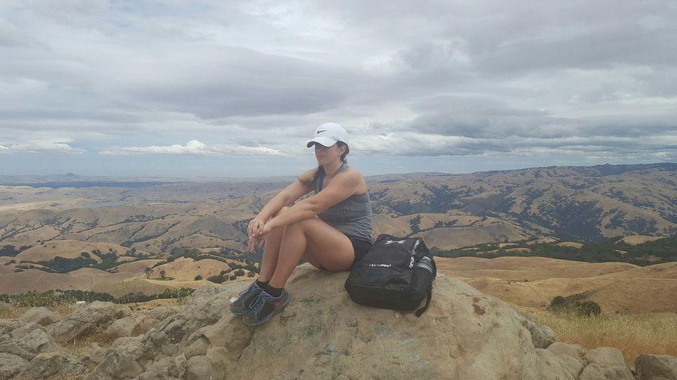 Yesterday's hike to mission peak. No edits Missionpeak Fremont California Hike Beautiful Clouds Bucketlist