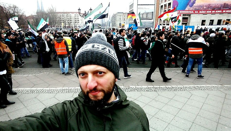 Selfie with Habibi Fun With Flags Protest