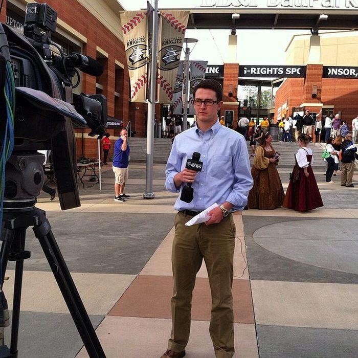 @sorensenews at Charlotteknights opening night.