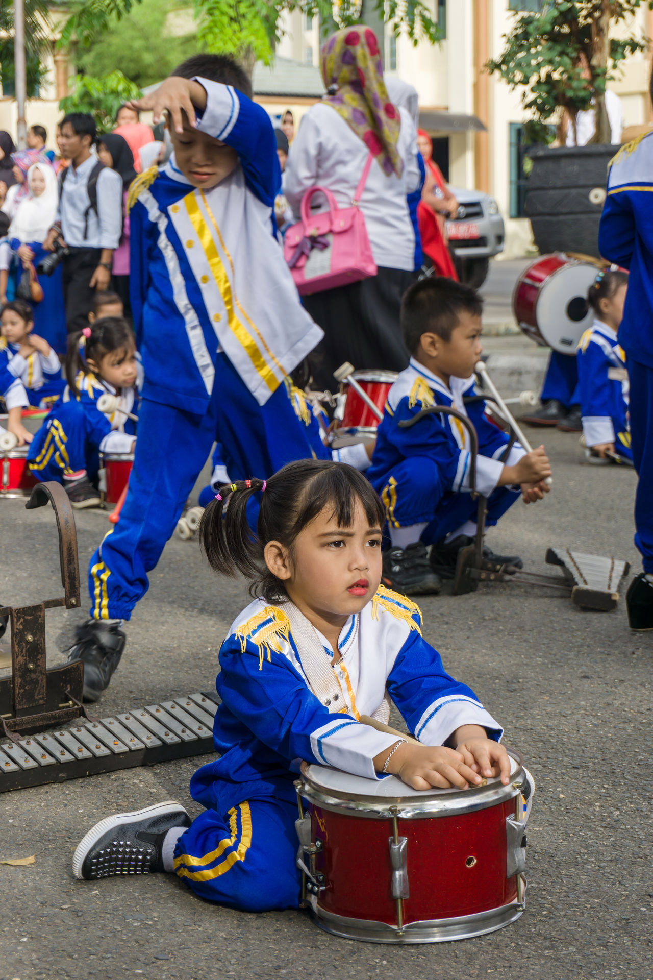 marching band Adult Blue Boys Carnival Crowds And Details Charity And Relief Work Child Childhood Crowd Cultures Day EyeEmNewHere Females Girls Marching Band Outdoors People Real People Sitting Standing Street Street Photography Uniform Waiting Women Young Adult