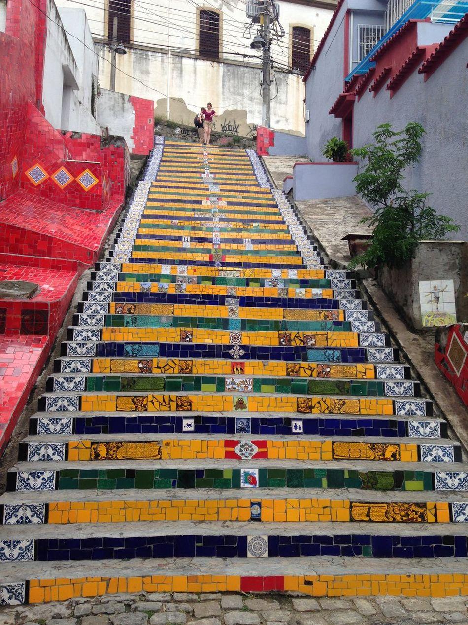Escadaria Selarón Lapa Rio De Janeiro Brazil Arte Art Escada