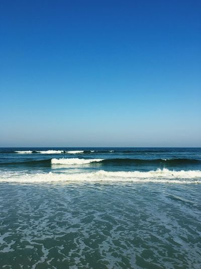 Sea Horizon Over Water Water Blue Clear Sky Copy Space Scenics Tranquil Scene Wave Beach Tranquility Beauty In Nature Surf Seascape Idyllic Waterfront Nature Non-urban Scene Day Vacations Fresh On Eyeem  Island Sand Ocean