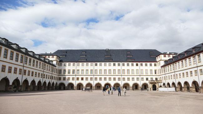 Gotha Historische Museen Schloss Friedenstein Sommerfeeling Thüringenentdecken Wolken