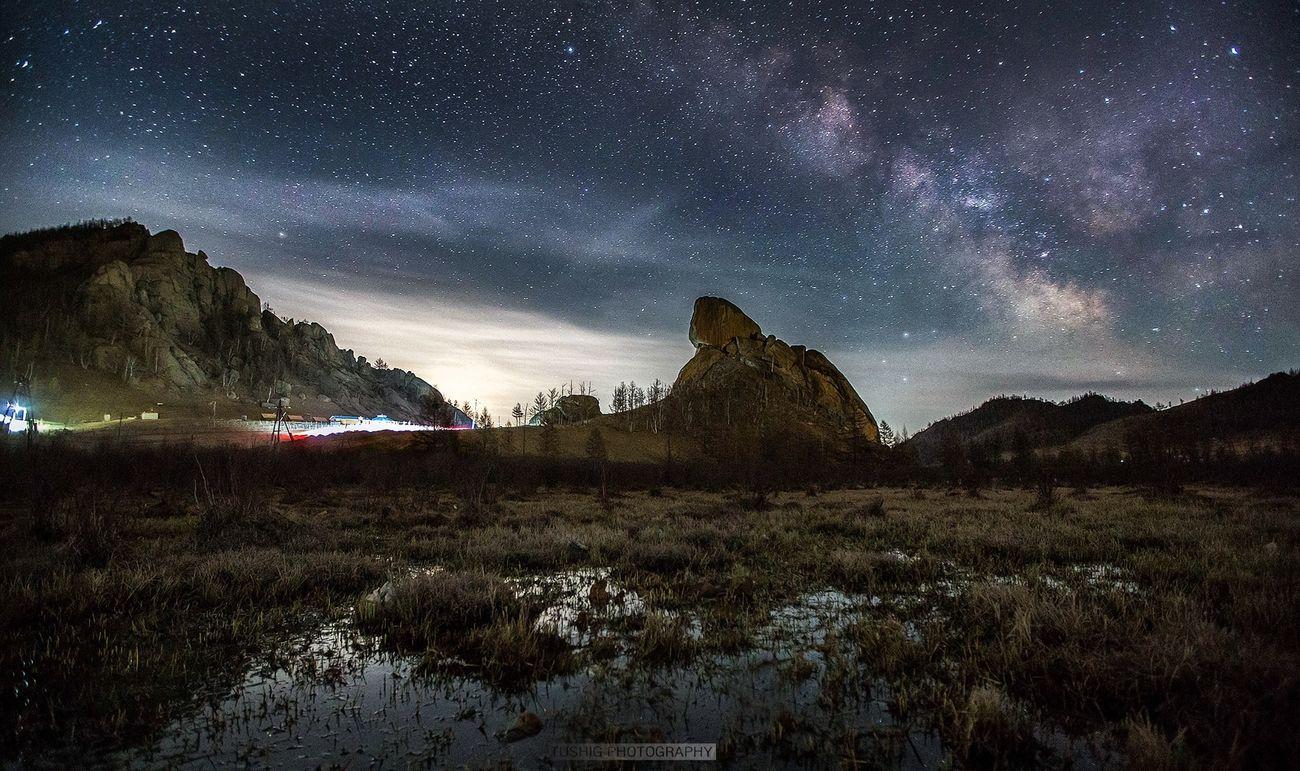 Terelj Landscape Milkyway Milky Way Turtle Rock Nightphotography Nightscape Night Lights Mongolia