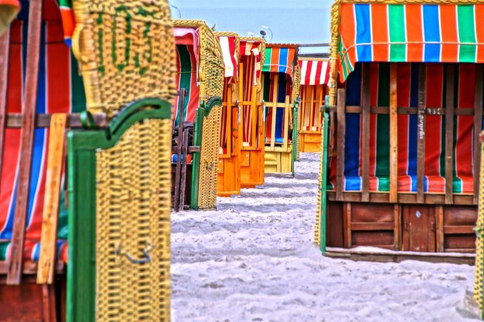 at the beach Arrangement Baltic Sea Beach Beach Chair Beach Chairs Choice Coast Colors Grömitz HDR Ostsee Strand Symmetry Variation Strandkorb Strandkörbe Beach Photography Baltic Coast Hdr_Collection Strand ♥