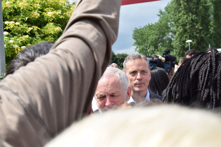 Jeremy Corbyn and Matt Rodda swarmed by supporters. Adult Close-up Corbyn Day Jc Jeremycorbynforpm Labour Leading Mammal Manofthepeople Men Nikon Nikon D3300 Nikonphotographer Nikonphotography Outdoors People Politics Politics And Government PowerToThePeople Rally Selective Focus Senior Men The Photojournalist - 2017 EyeEm Awards Tree