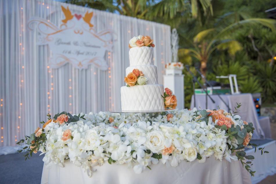Beach Cake Celebration Close-up Day Flower Flowers Freshness Rose - Flower Table Wedding Wedding Wedding Cake