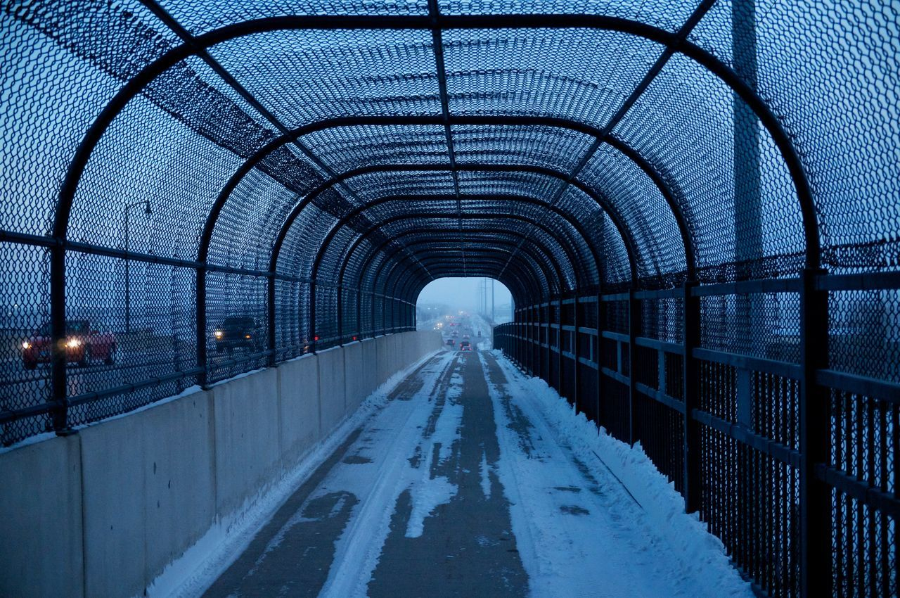2-12-16 Arch Architecture Ceiling Composition Connection Design Diminishing Perspective Empty Fargo Indoors  Leading Narrow North Dakota Perspective Public Transportation South Fargo The Way Forward Transportation Travel Vanishing Point The Architect - 2016 EyeEm Awards