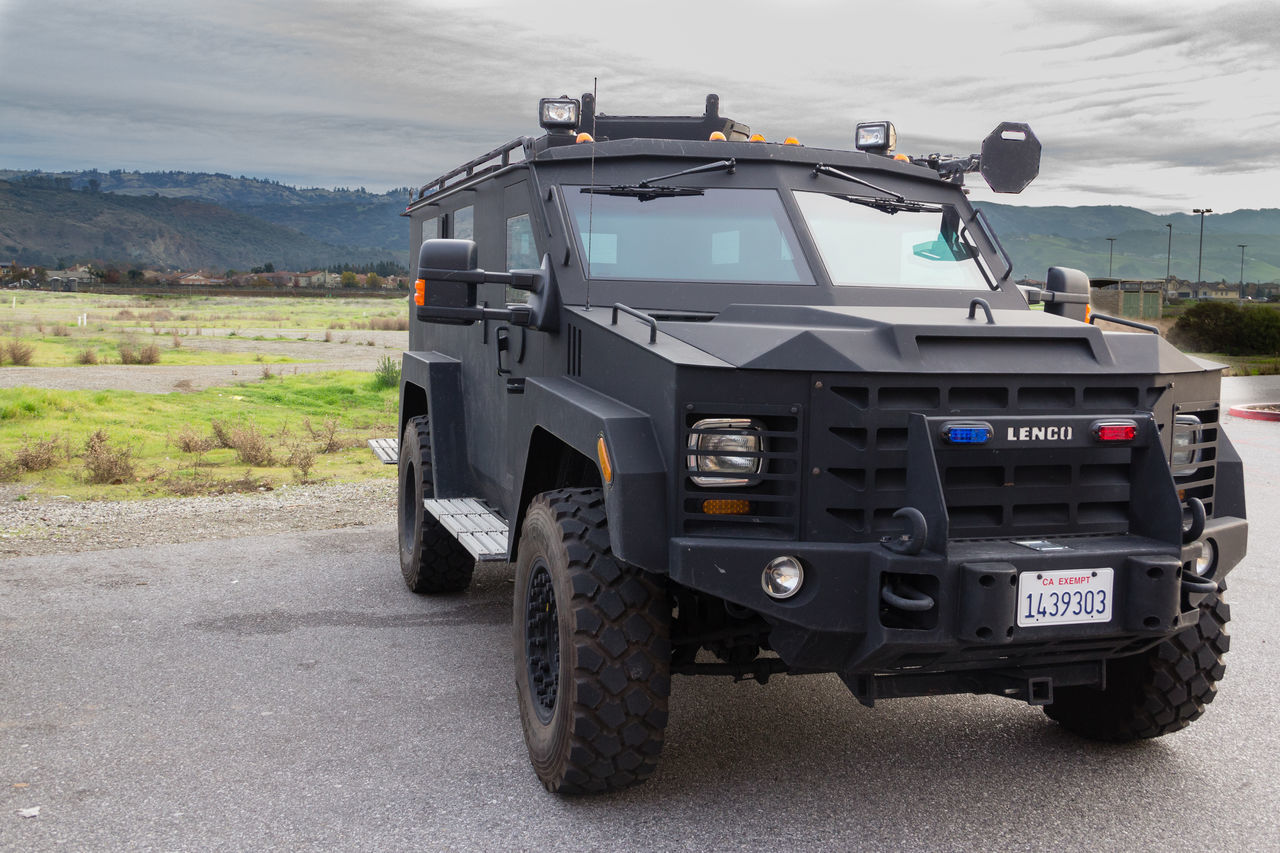 Armored Vehicle Bearcat Close-up Cloudy Day Horizon Law Enforcement No People Outdoors Police Swat Swat Vehicle Transportation Truck Vehicle
