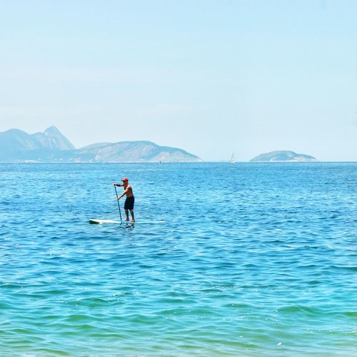 Water Paddleboarding One Person Adventure Nature Blue Day Adult The Great Outdoors - 2017 EyeEm Awards Rio De Janeiro Rio Brasil Brazil Beach Guanabara Investing In Quality Of Life