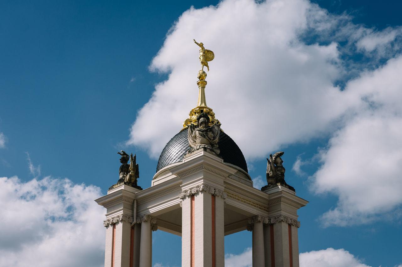 Potsdam Landtag Architecture Built Structure Cloud - Sky Landtag Low Angle View Potsdam Sky Statue