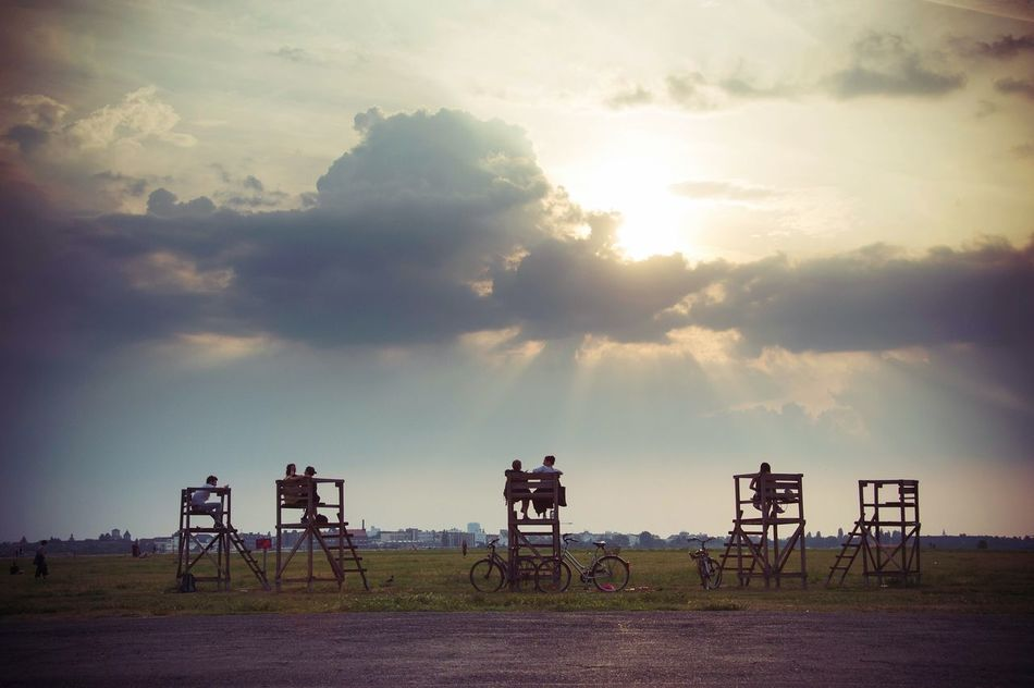 Late in the day Sunset Outdoors Tranquility Sky Tempelhofer Feld EyeEmNewHere