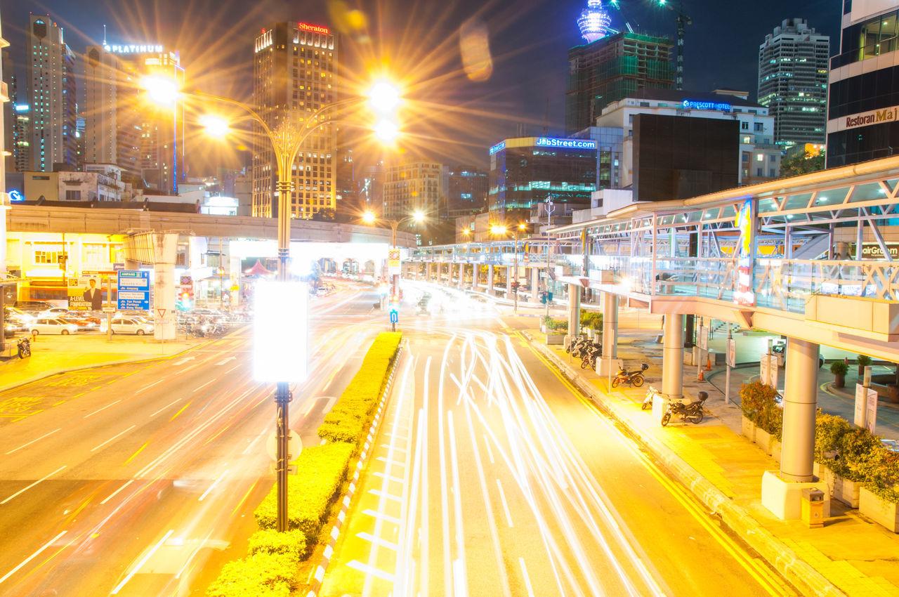 The Kuala lumArchitecturetSlow ShuttertVacationsiTourismrMalaysiayCarscLamplLight TrailsaNight Photographyaphy busyTRoadRSpeedpBridgeiJammjStucktuTraffic LightsgUrbanrban