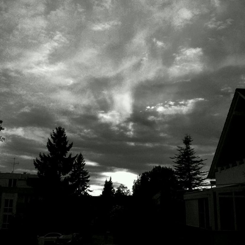 Clouds Sky Blackwhite Light Abstracts