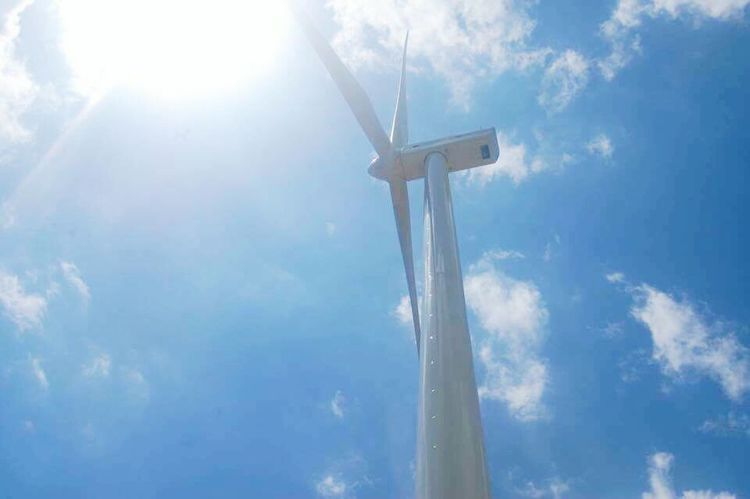 Guimaras Island, Philippines Windmill Sky