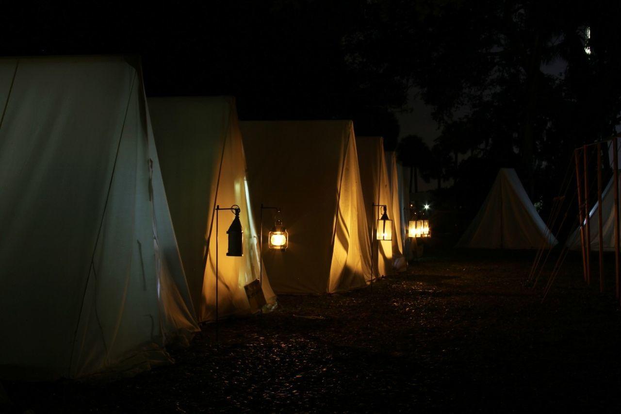 Living History Shadows And Light living history encampment; 30 second exposure