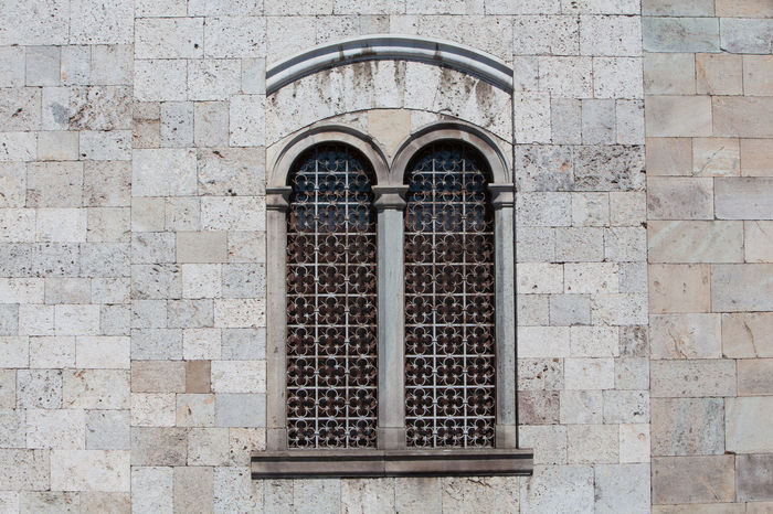 Bifora a Pisa Arch Arched Architecture Bifora Brick Wall Building Exterior Built Structure Closed Day Façade Historic Medieval Medieval Architecture Mullion Windows Mullioned Windows Outdoors Reinessance Window