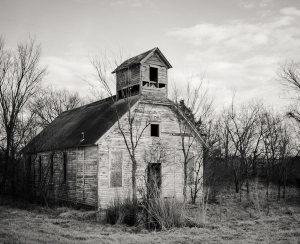 Abandoned Architecture Bare Tree Building Exterior Built Structure Cloud - Sky Country House Day Field Grass House Nature No People Outdoors Sky Tranquility Tree