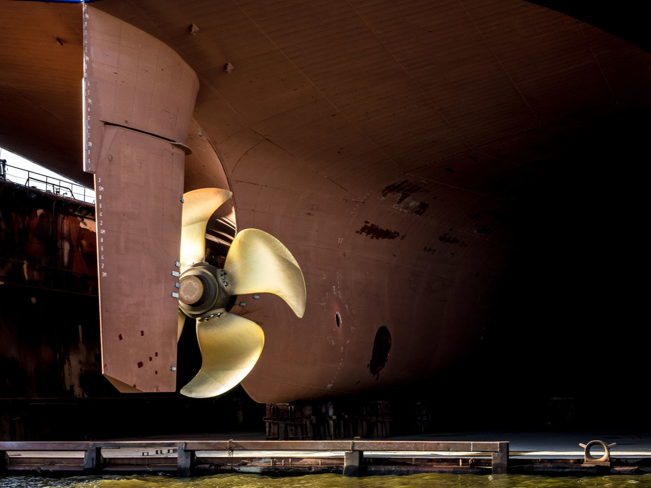 Close-Up Of Boat Propeller