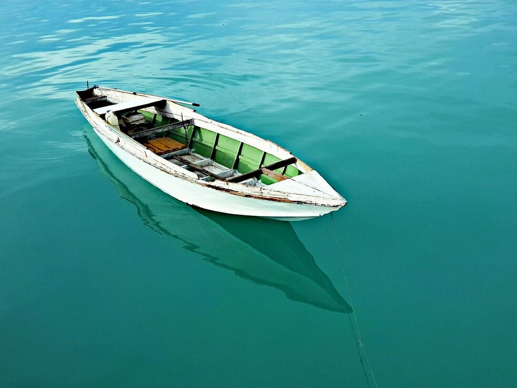 A fishing boat... Semporna Sabah Island Water Clearwater Ocean Island Borneo Malaysia Fisherman Boat Smallboat Green Contrast Colors Sea