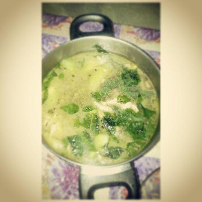 """Lunch time. Tinolang Manok yum yum yum """" :) PagkaengPinoy Lutongpinoy"""