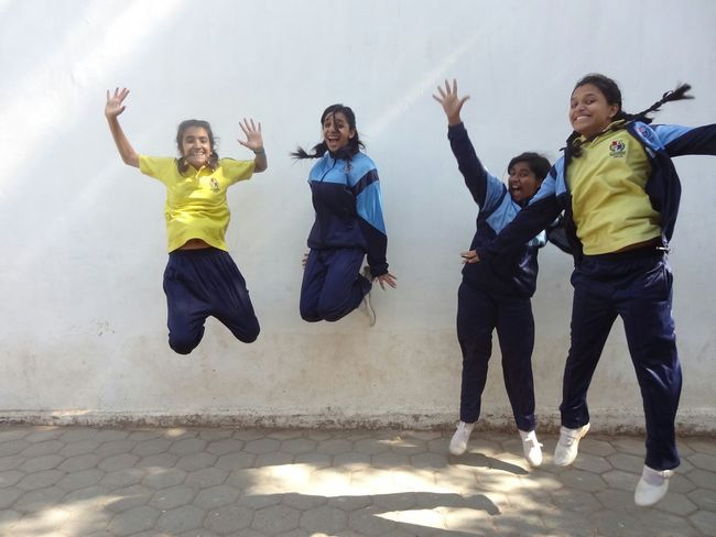 Everyday Joy Happiness Is Jumping With Your Friends Crazy Jumping Friends School Better Together We Are Family