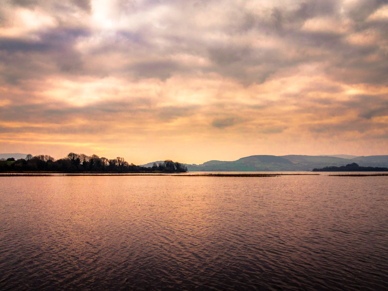 Inis Cealtra Lough Derg Ireland Sunset Reflection Nature Sky Beauty In Nature Scenics Water Landscape Outdoors No People Lake Cloud - Sky Tranquility Landscapes Lough Trees