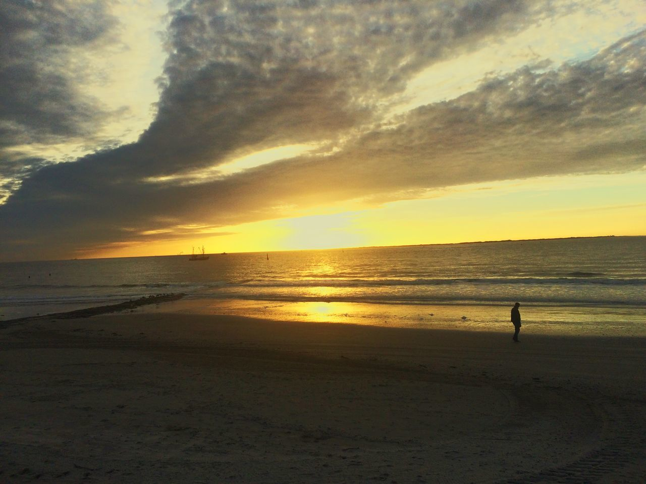 Sunset Water Sky Sand Enjoying Life Beauty In Nature Place Of Heart