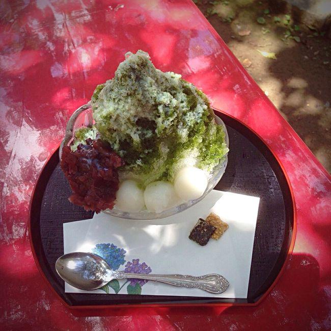 Kyoto Japan Temple Mimurotoji Shaved Ice Uji Ujikintoki 京都 日本 三室戸寺 寺 かき氷 宇治 宇治金時