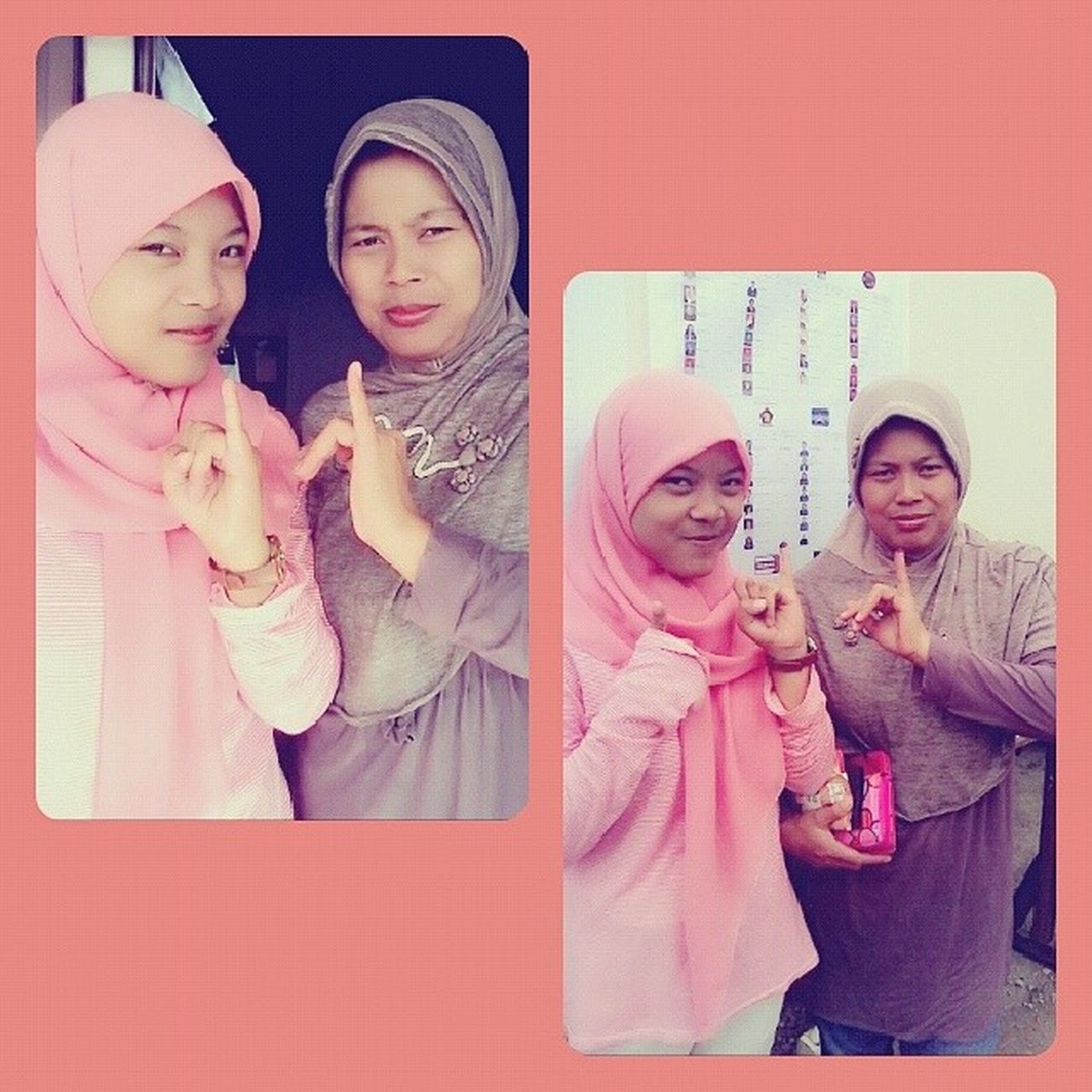 Before After Nyoblos. Pemilu2014 :-) w/ mama♥
