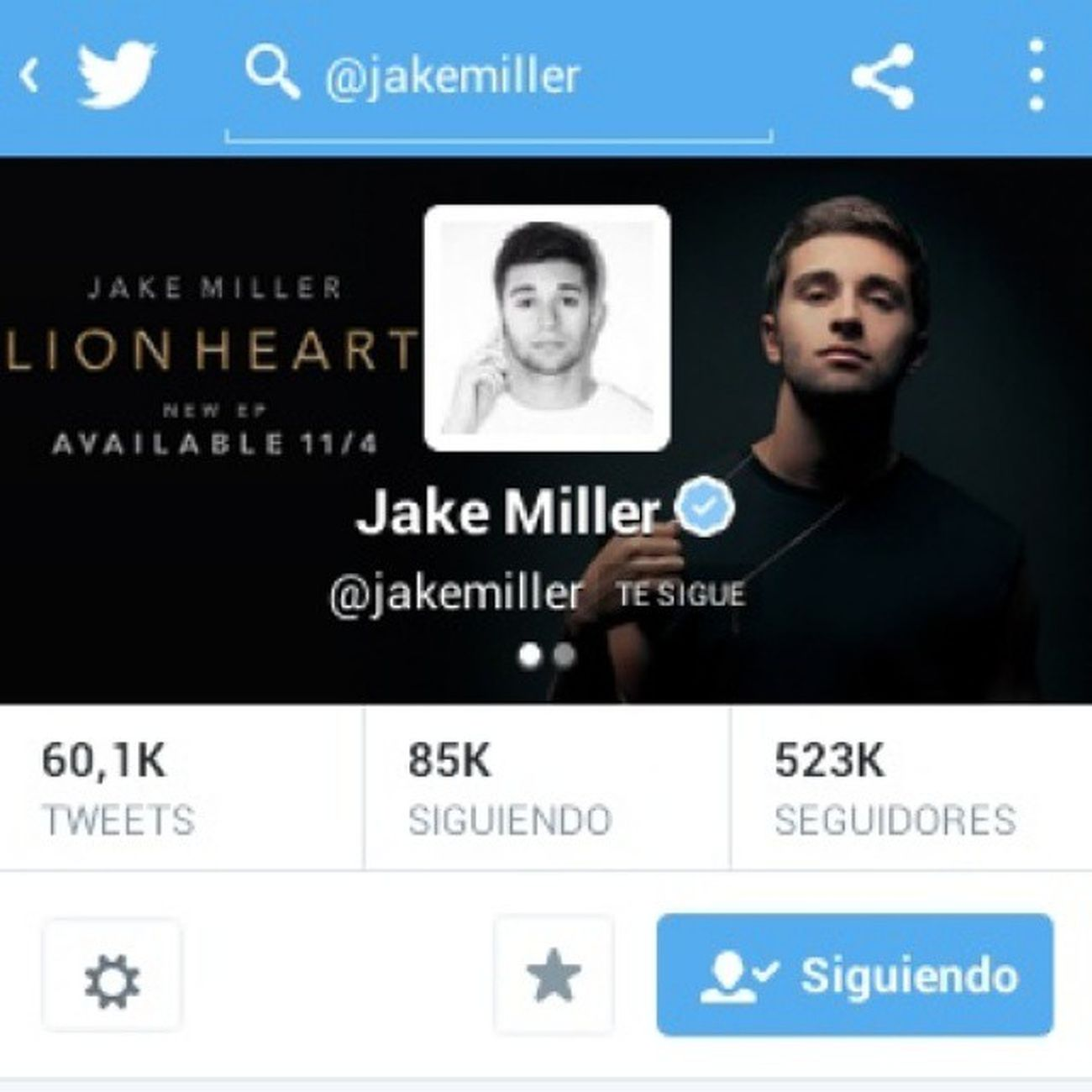 Jake me sigue.😍😍 Jakemiller . ♡♡♡♡