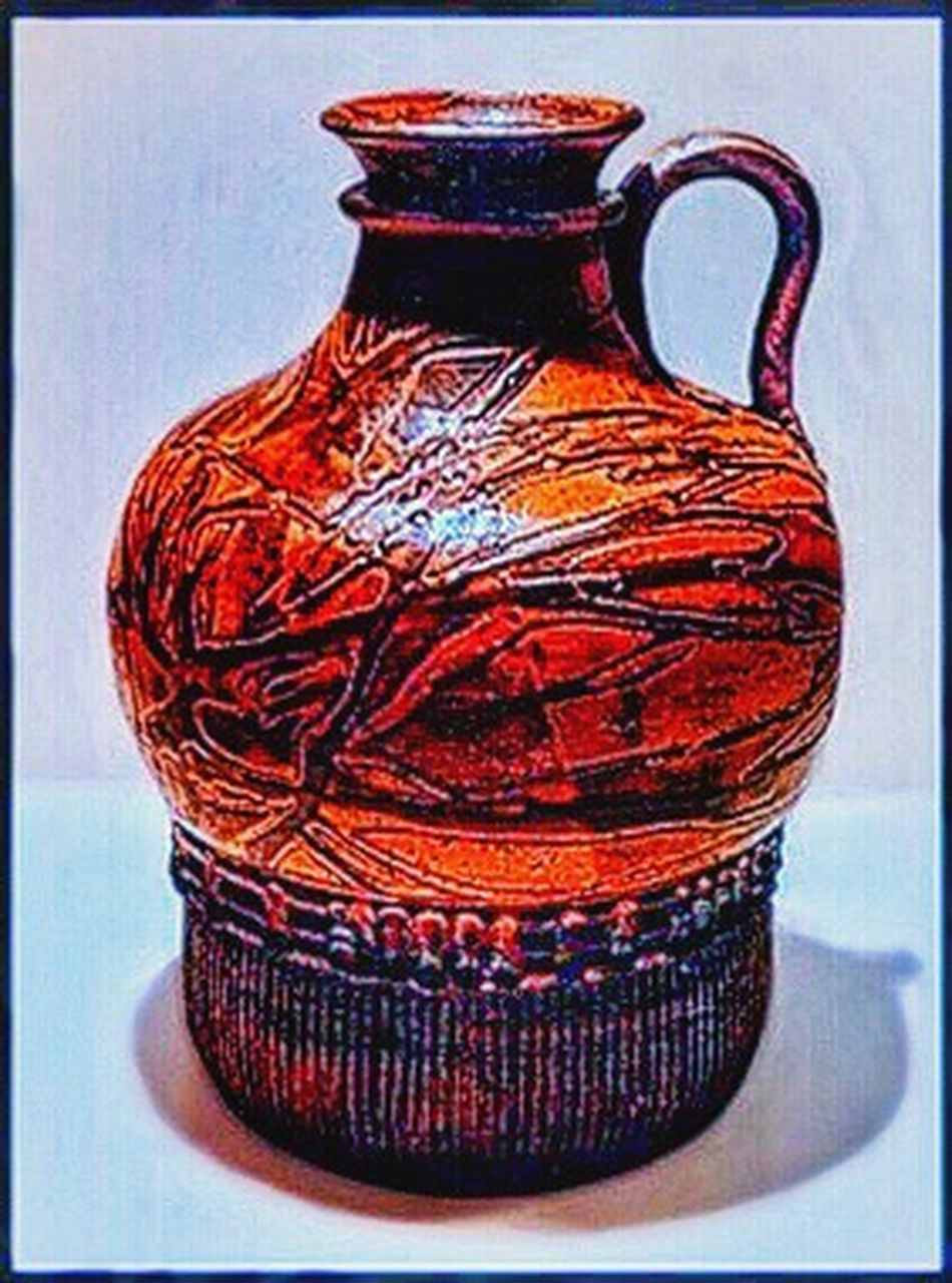 Ceramic Jug Stoneware Hand Thrown My Art No People Large Pottery Art Antique Jar Old-fashioned Indoors  Day