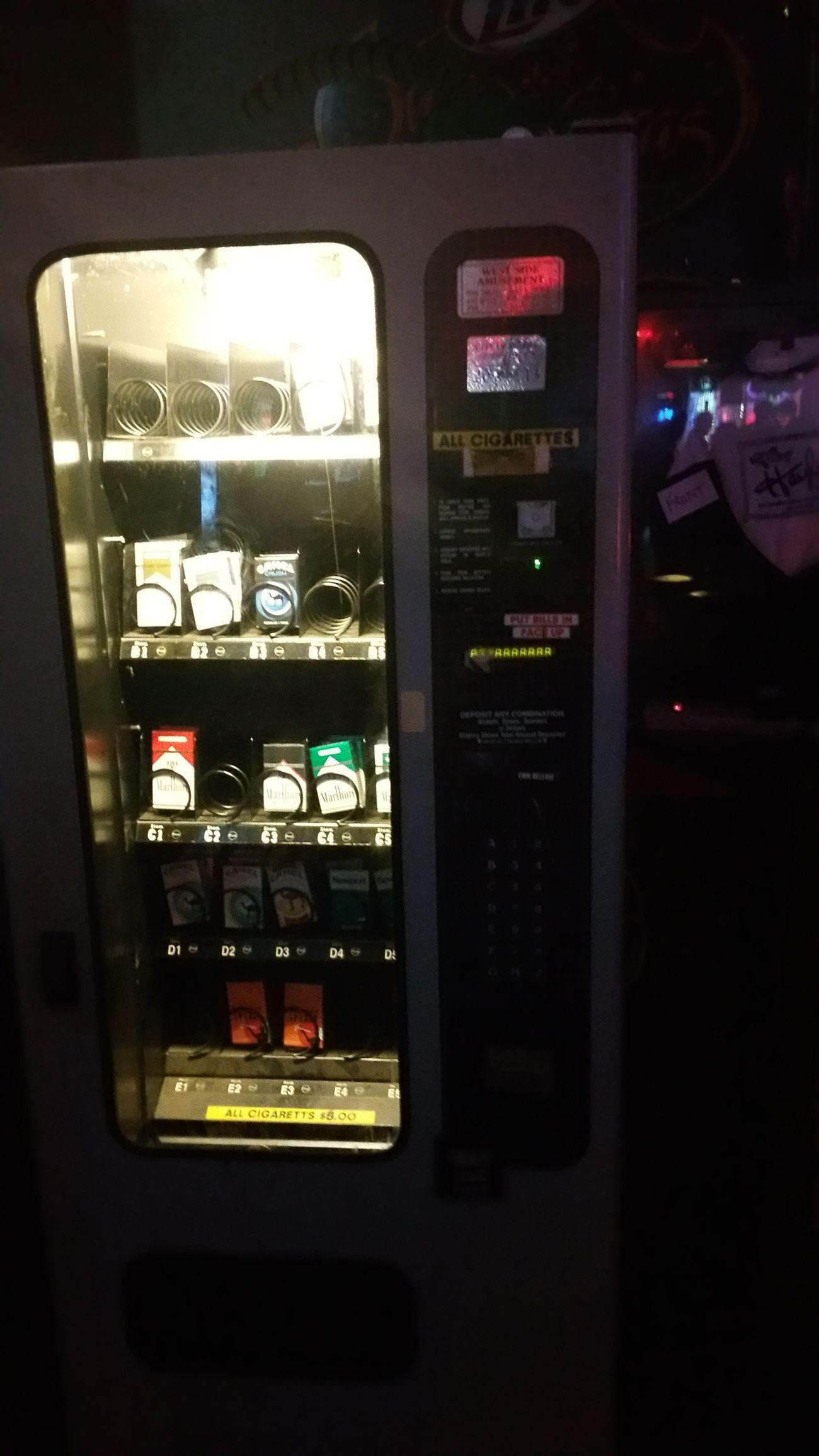 Bar On The Road cigarette vending machine Have No Idea Mobiel