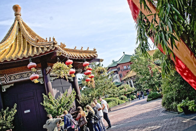 Amusementpark Architecture Built Structure Chinatown Culture Day Hanging Out Nature Outdoors Person Phantasialand Place Of Worship Pretpark Religion Sky Spirituality Temple - Building Tourism Tradition Vacations